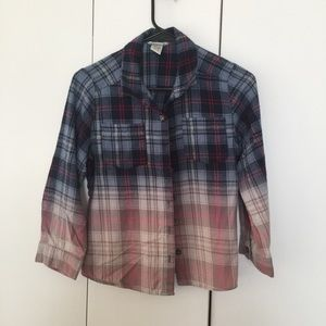 Mia Chica girls ombré flannel shirt